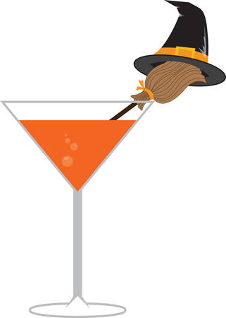 A witchy drink will make a great Halloween decoration.