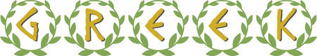 coronal: Display pride in Greek heritage with this laurel wreath saying.