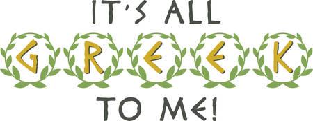 chaplet: Display pride in Greek heritage with this laurel wreath saying.