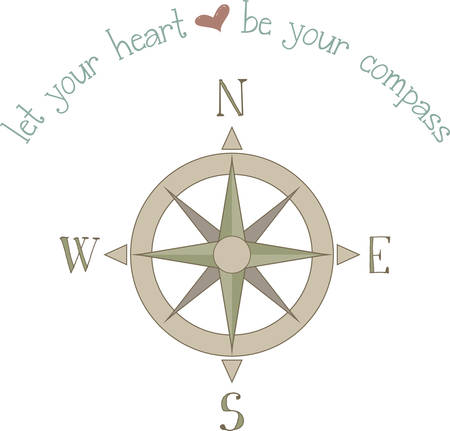 your point: A compass can point the way for your direction. Illustration