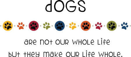 pawprint: Use this dog pawprint border to share your love for your pet.