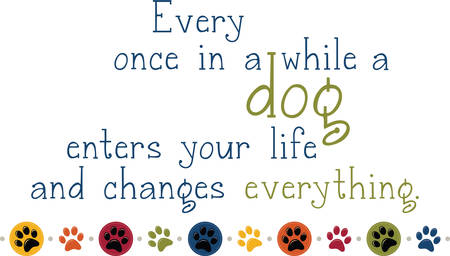 pooch: Use this dog pawprint border to share your love for your pet.