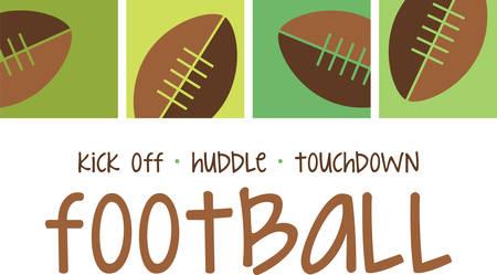 Football fans will love this sports design. Ilustração