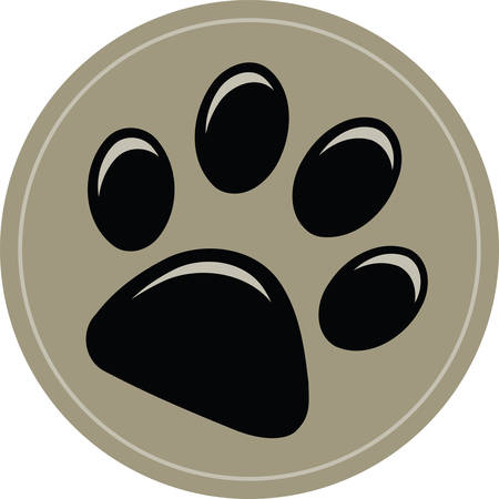 Use this dog pawprint to share your love for your pet. Illustration