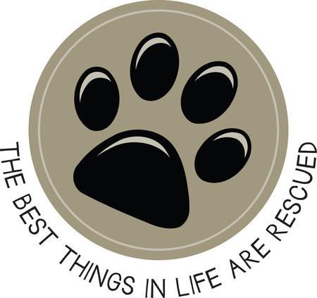 Gebruik deze hond pawprint om uw liefde voor uw huisdier.