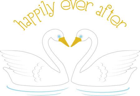 Gebruik deze zwanen om liefde te vieren in een bruiloft project.