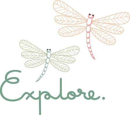 These dragonflies will add a touch of peace to your project. Ilustração