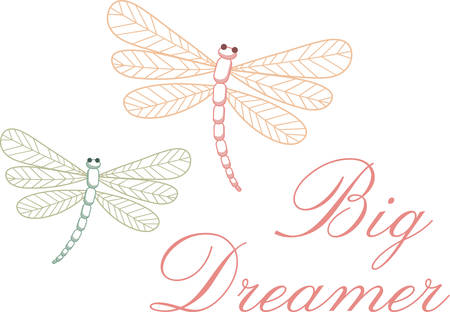 These dragonflies will add a touch of peace to your project. Иллюстрация