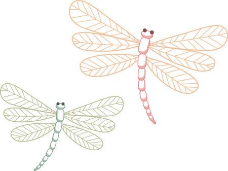 Diese Libellen einen Hauch von Frieden zu Ihrem Projekt hinzufügen. Standard-Bild - 41355691