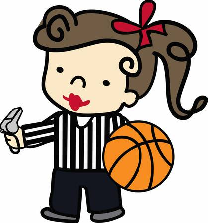 Basketball players will love this ball design. Ilustracja