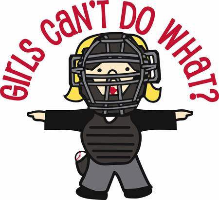 female judge: Baseball players will love this sporting design. Illustration