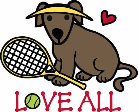 Tennis Players will love this sporting dog.