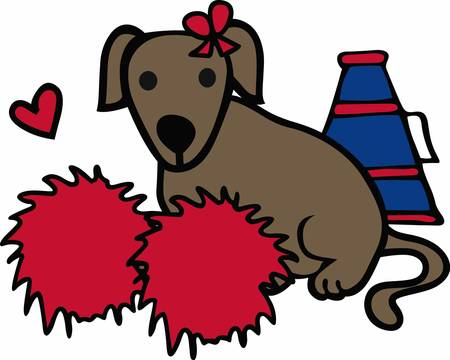 pep: Cheerleaders will love this sporting dog.