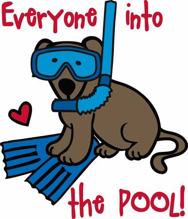 swimmer's: Swimmers will love this sporting dog. Illustration