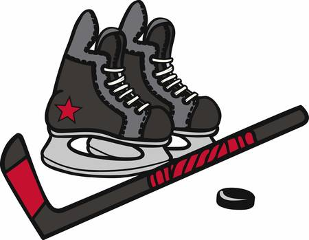 game equipment: Hockey players will love a nice game equipment design.