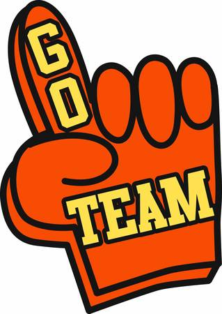 one team: Use a big foam finger to show support for your favorite team.