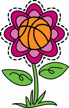 flowered: Ball players will emjoy a flowered game ball.