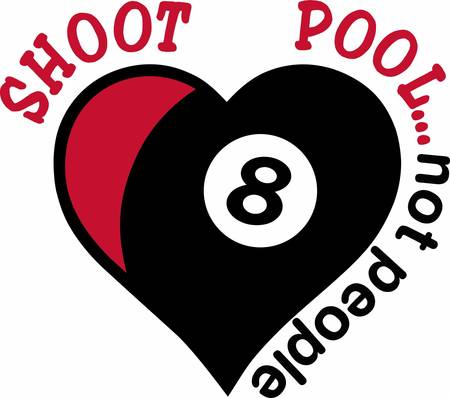 cue sports: Show that you have given your heart to the game.