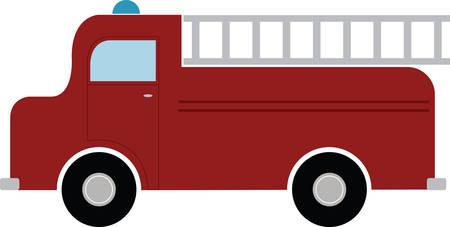 Every little boy will enjoy this fire truck. Иллюстрация