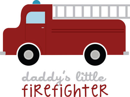 Every little boy will enjoy this fire truck. Illustration