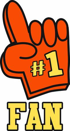 Use a big foam finger to show support for your favorite team.