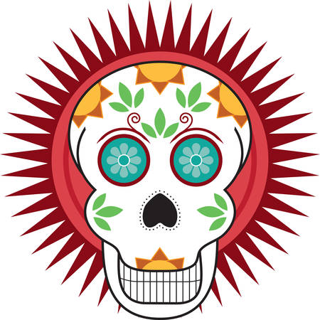 cranium: A skull is a great day of the dead decoration.
