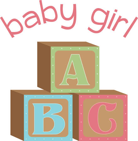 A baby blanket or onesie would look adorable with these blocks. Illustration
