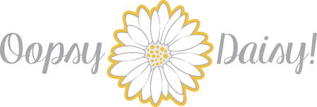 accent: A daisy will make a beautiful accent on any project.