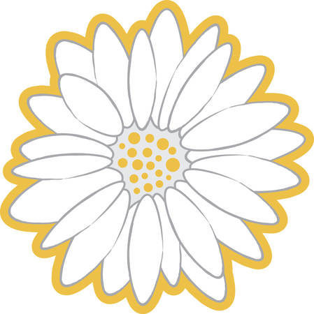 A daisy will make a beautiful accent on any project.