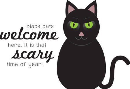 animal time: A black cat is a great Halloween decoration.