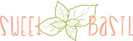 basil leaf: Use this design on a kitchen linen or napkin.