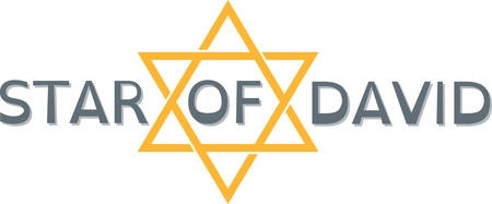 Use this Star of David for simple touch on Hanukkah decorations. Stok Fotoğraf - 41367461
