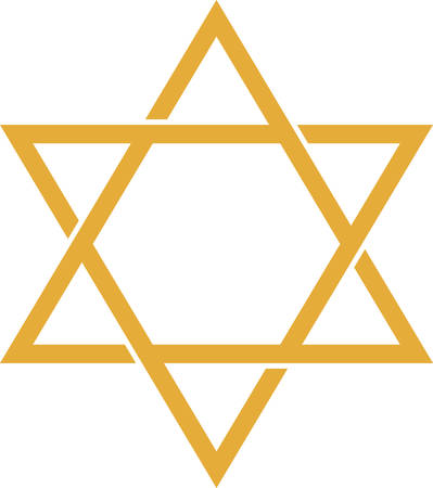 Use this Star of David for simple touch on Hanukkah decorations. Çizim