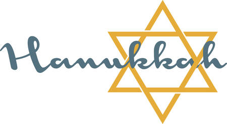 Use this Star of David for simple touch on Hanukkah decorations. Illustration