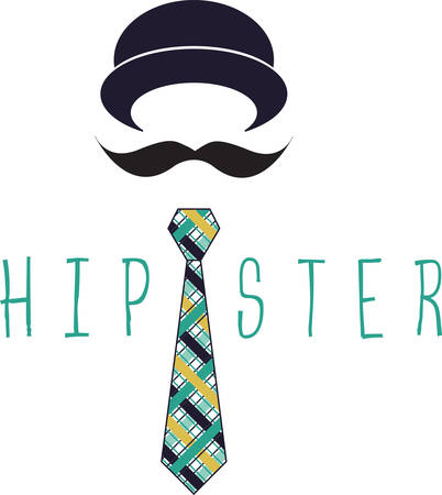 This cute hat mustache and tie is just right for the little man.