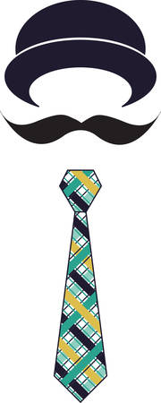 bowler hat: This cute hat mustache and tie is just right for the little man.