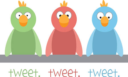tweet: Use these funny birds on a shirt.
