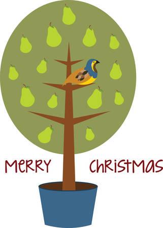 kuropatwa: Partridge na Gruszy to doskonały prezent i wspaniałe dekoracje do domu, aby powitać swoich gości na Boże Narodzenie.