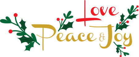 this: Use this peaceful and joyous design for Christmas. Illustration