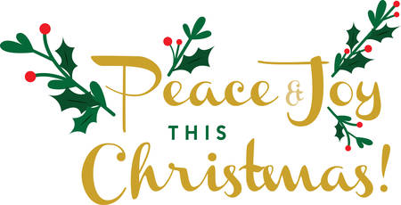 Use this peaceful and joyous design for Christmas. Reklamní fotografie - 41367677