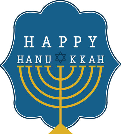 Use this menorah design to celebrate Hanukkah. Stok Fotoğraf - 41367680