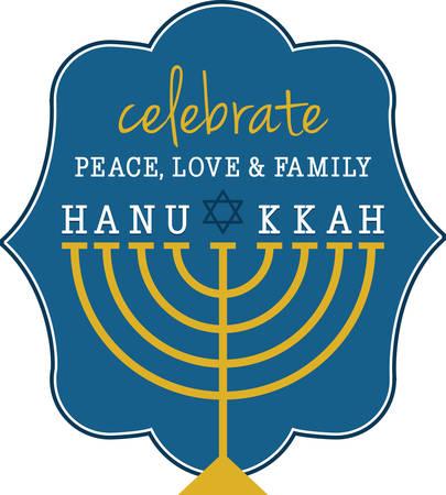 ハヌカを祝うためにこの本枝の燭台のデザインを使用します。