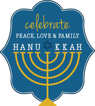 Use this menorah design to celebrate Hanukkah.