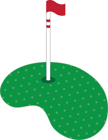 Use this golf green on a polo shirt.