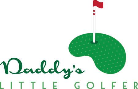 ポロシャツのこのゴルフのグリーンを使用します。  イラスト・ベクター素材