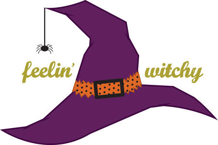 A witch hat is a great Halloween decoration. Vectores