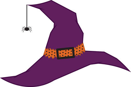 black widow: A witch hat is a great Halloween decoration. Illustration