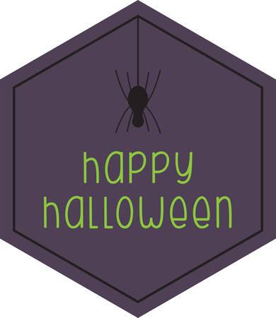 Een spin is een grote decoratie van Halloween. Stock Illustratie