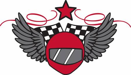 winged: Racers will love this winged helmet design.