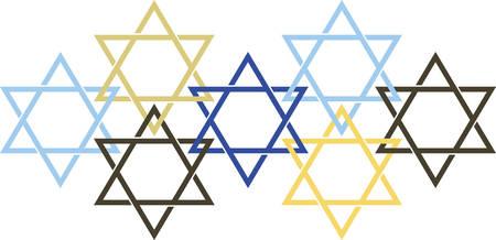 Celebrate Hanukkah with this festive Star of David design. Çizim